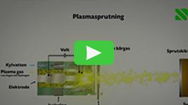 Genomskärning av sprutpistol vid Plasmasprutning